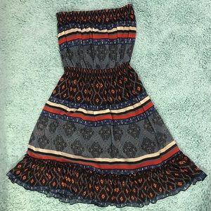 Forever 21 Strapless Bohemian Dress